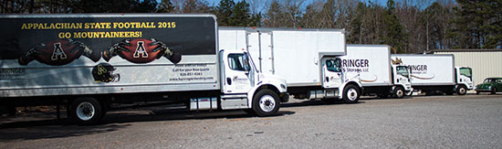 Barringer Moving and Storage Trucks
