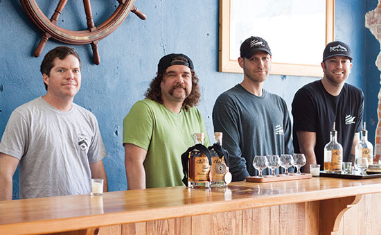 The co-founders of Outer Banks Craft Distilling