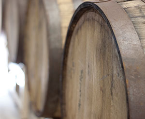 barrels aging their gold rum