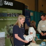 image of SAAB booth at procurement event